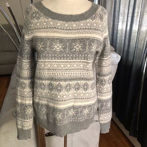 J. Crew Dream Fair Isle crewneck Sweater size XS